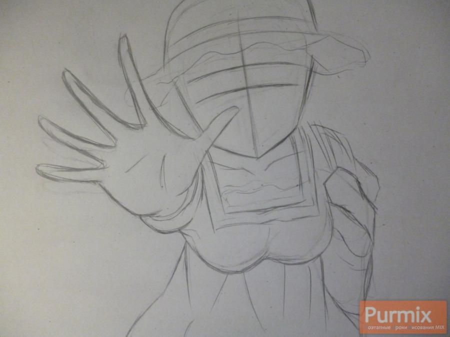 How to draw Samon Kusaribe from an anime the Storm of losses 2
