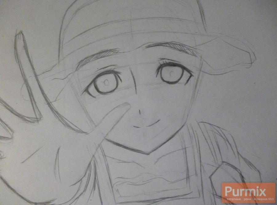 How to draw Samon Kusaribe from an anime the Storm of losses 3