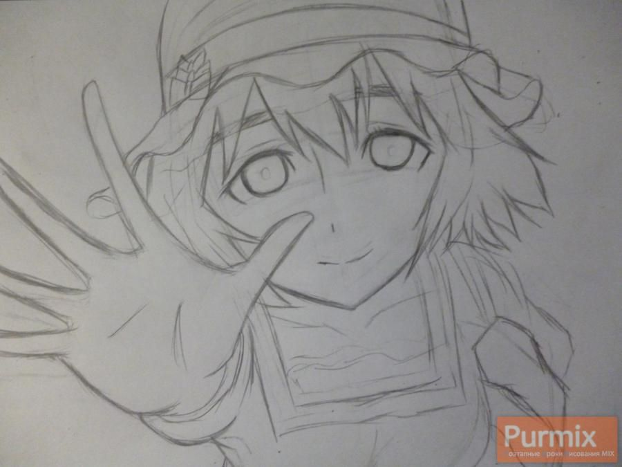 How to draw Samon Kusaribe from an anime the Storm of losses 4