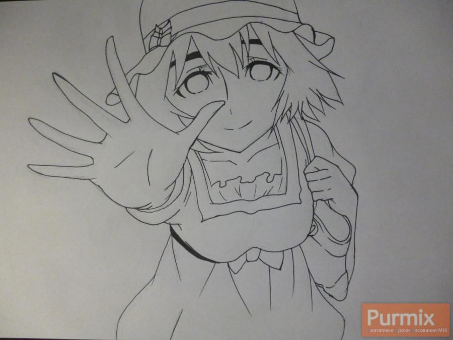 How to draw Samon Kusaribe from an anime the Storm of losses 5