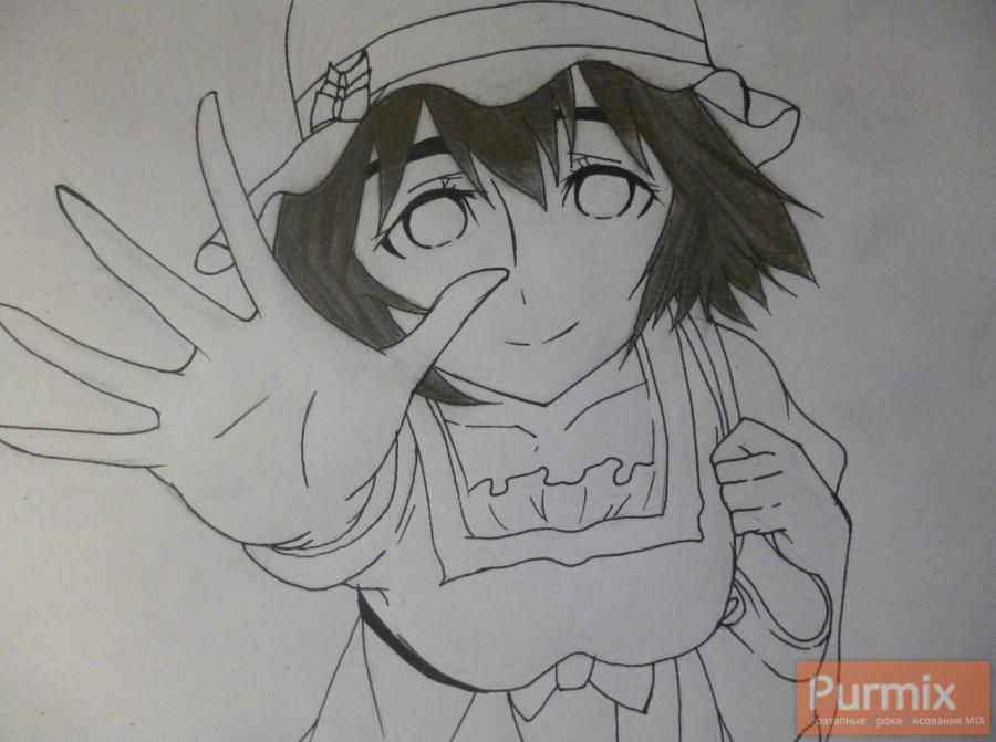 How to draw Samon Kusaribe from an anime the Storm of losses 7