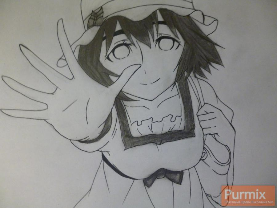 How to draw Samon Kusaribe from an anime the Storm of losses 8