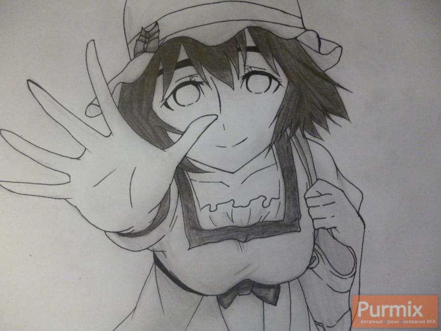 How to draw Samon Kusaribe from an anime the Storm of losses 9