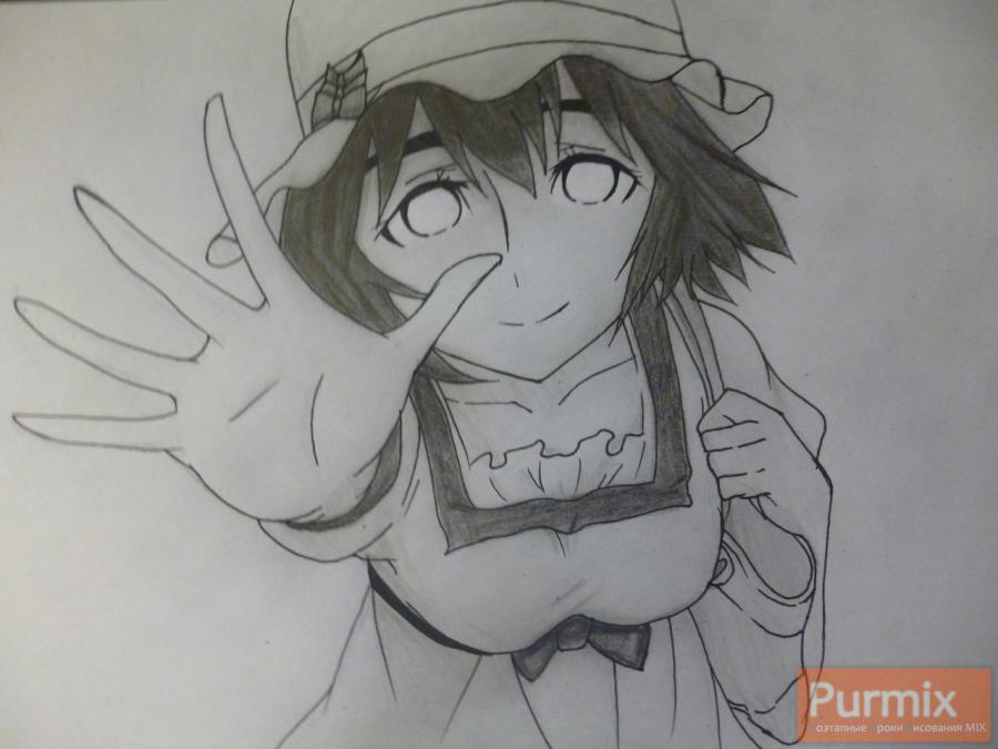 How to draw Samon Kusaribe from an anime the Storm of losses 10