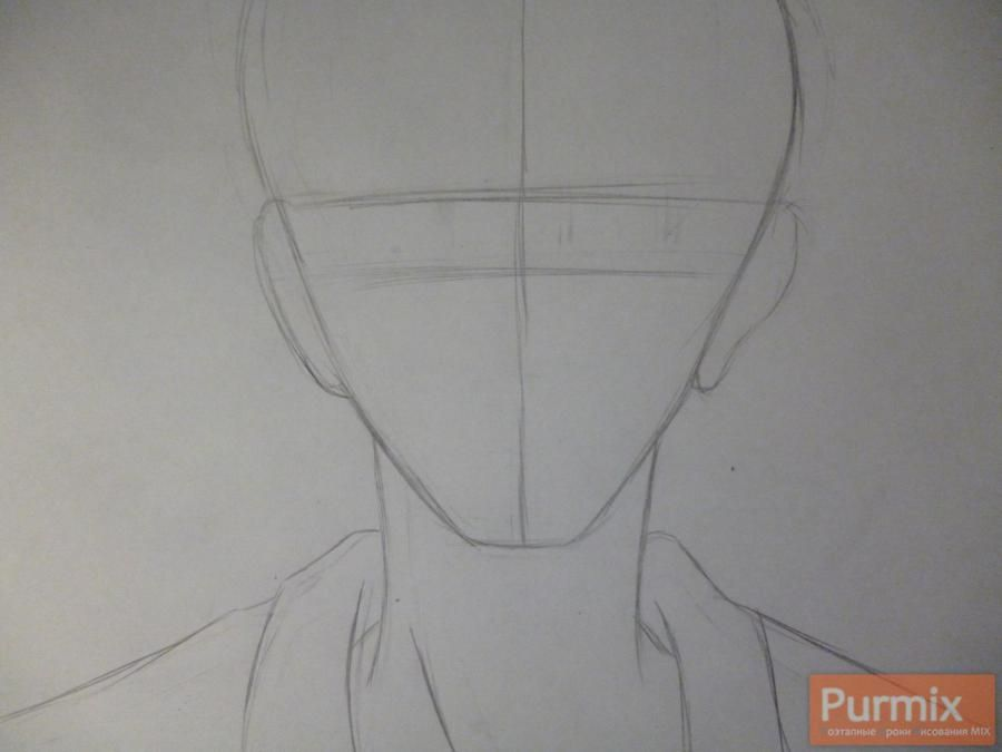 How to draw Hakadze Kusaribe from an anime the Storm of losses 2