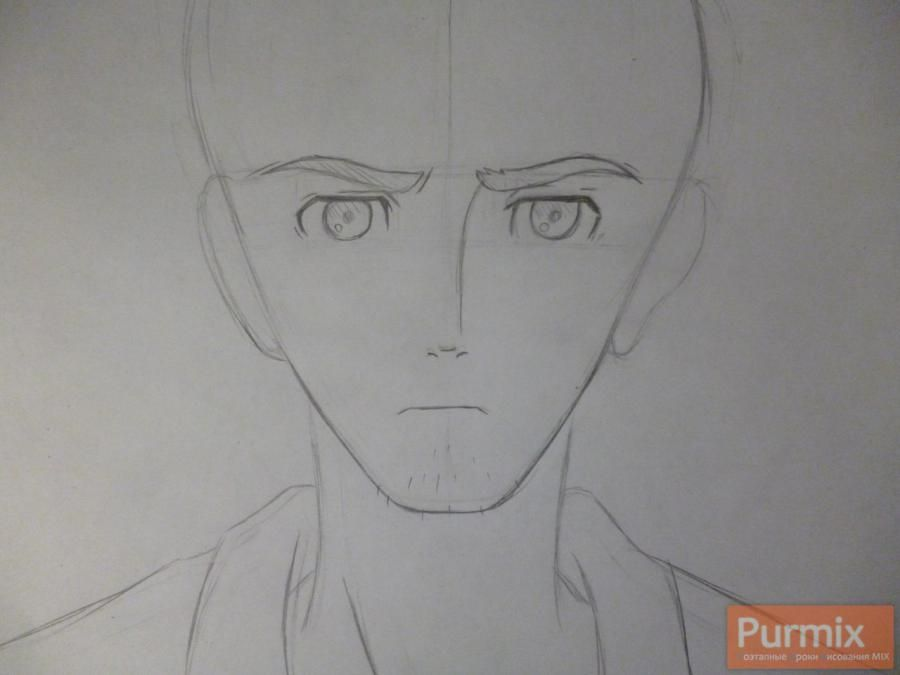 How to draw Hakadze Kusaribe from an anime the Storm of losses 3