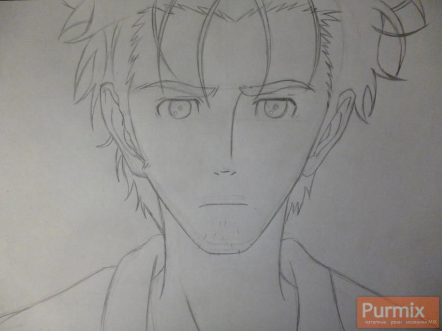 How to draw Hakadze Kusaribe from an anime the Storm of losses 4