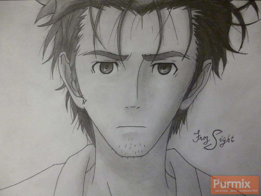 How to draw Rintaro Okabe from an anime the Matte Gate