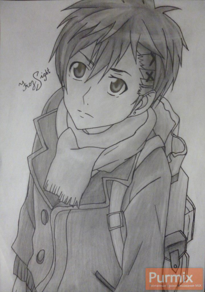 How to draw Yoshino Takigava from an anime the Storm of losses with a pencil
