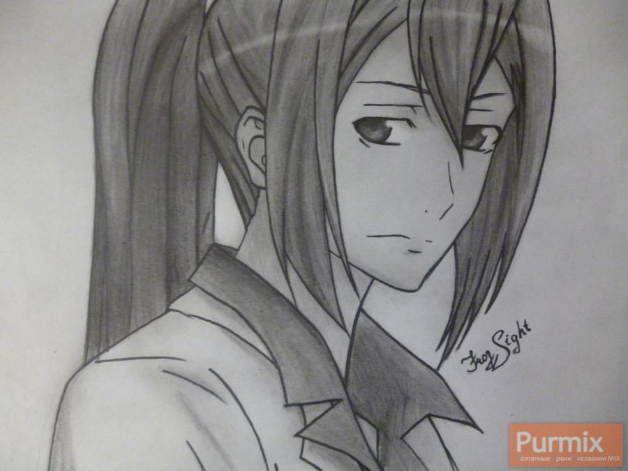 How to draw Samon Kusaribe from an anime the Storm of losses