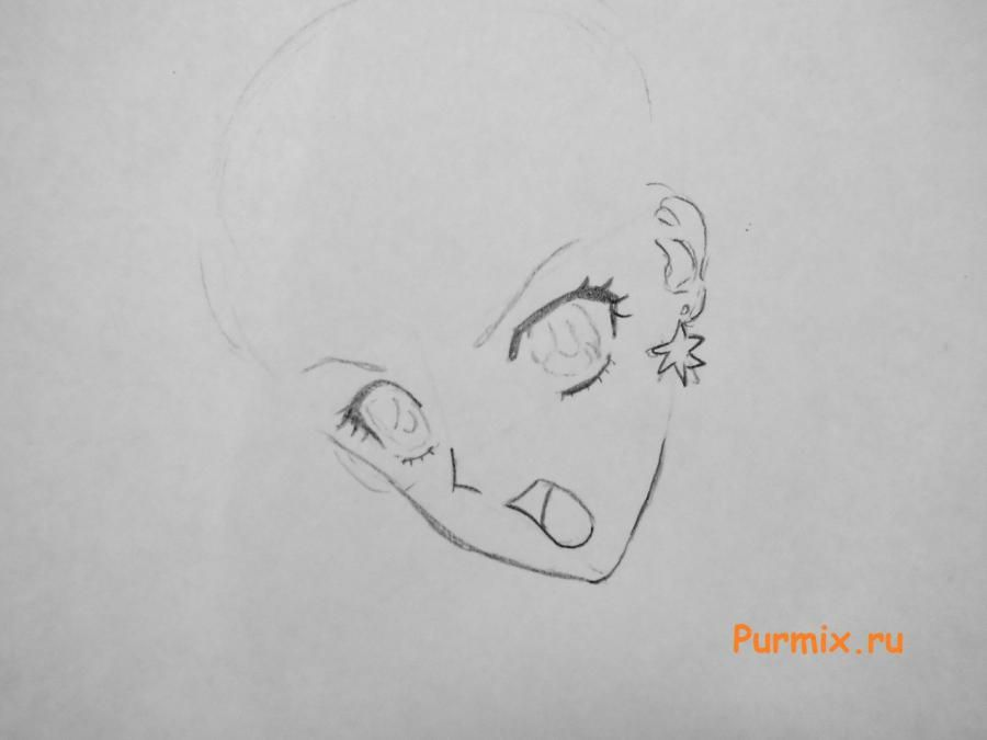 How to draw Usagi Tsukino from an anime of Sailor Moon Crystal 3