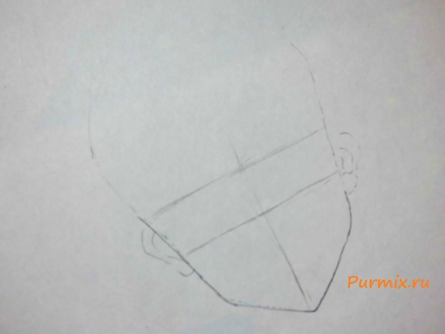 How to draw Minori Kusieda from Torador's anime with a pencil 2