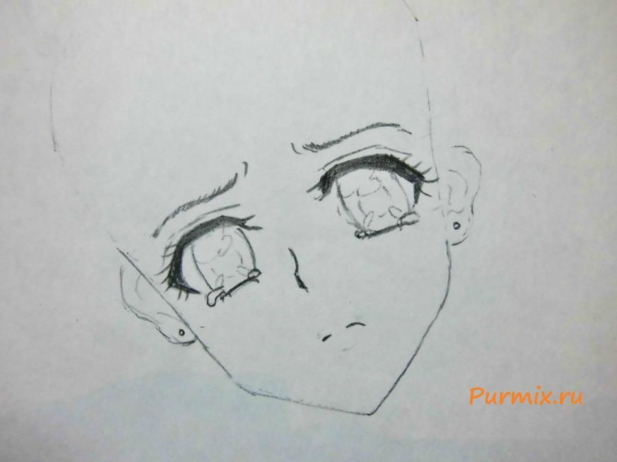How to draw Minori Kusieda from Torador's anime with a pencil 3