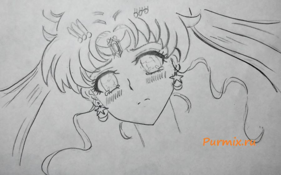 How to draw Minori Kusieda from Torador's anime with a pencil 4