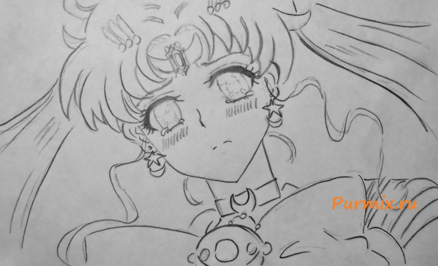 How to draw Minori Kusieda from Torador's anime with a pencil 5