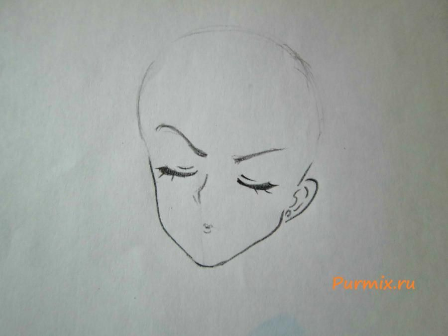 How to draw Amy Cavassima from Torador's anime with a pencil 3