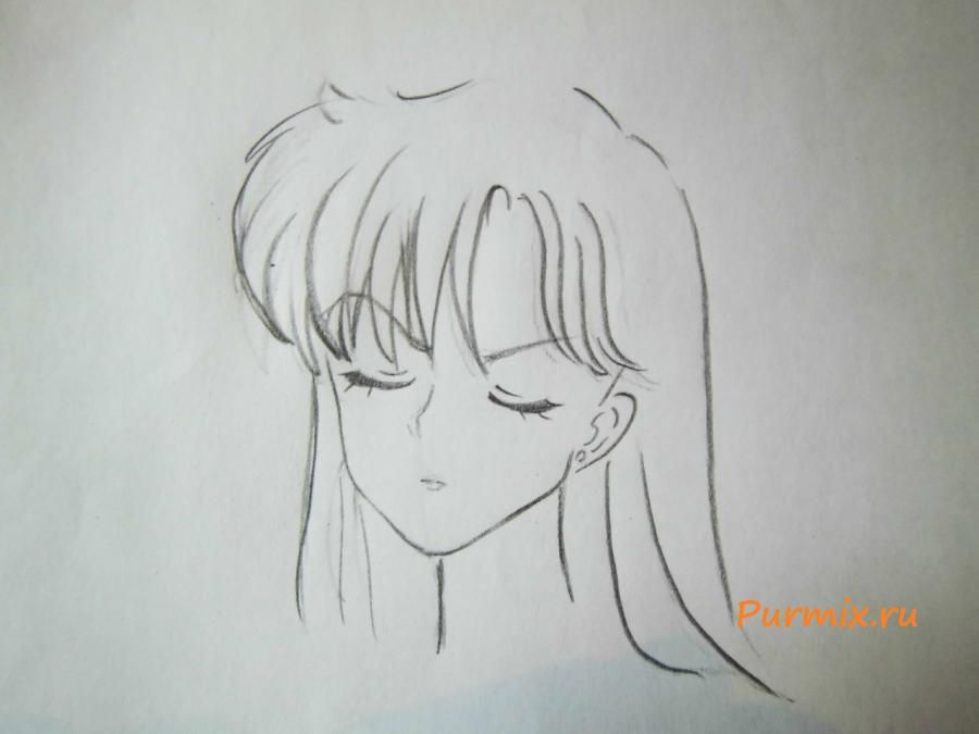 How to draw Amy Cavassima from Torador's anime with a pencil 4