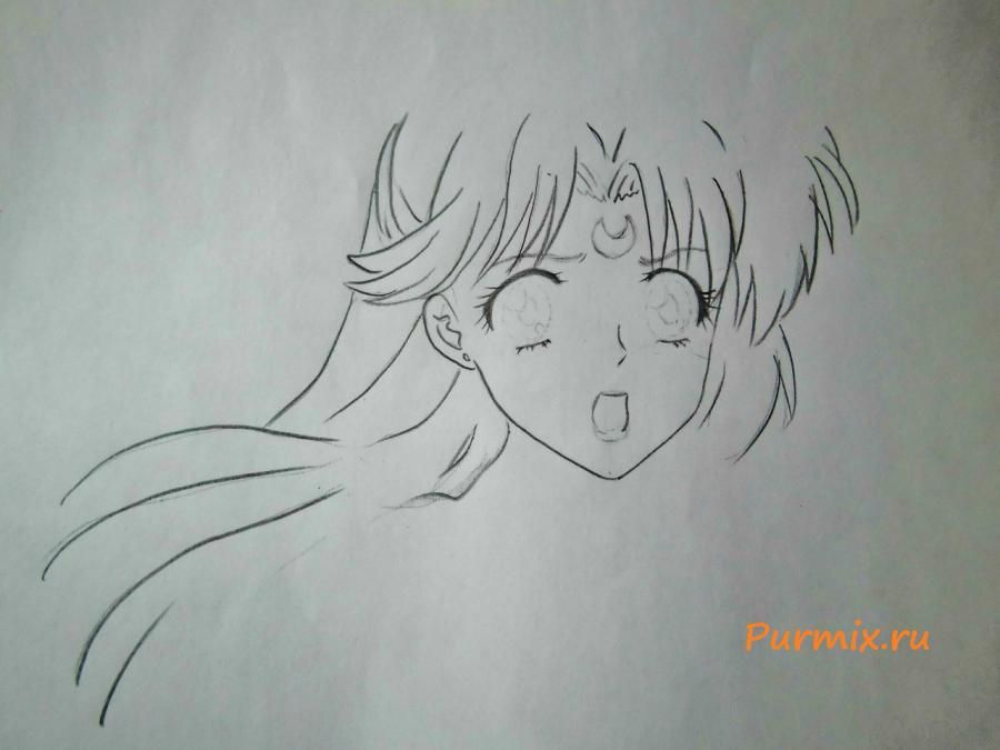 How to draw to Minene Ur from an anime the Diary of the future 4
