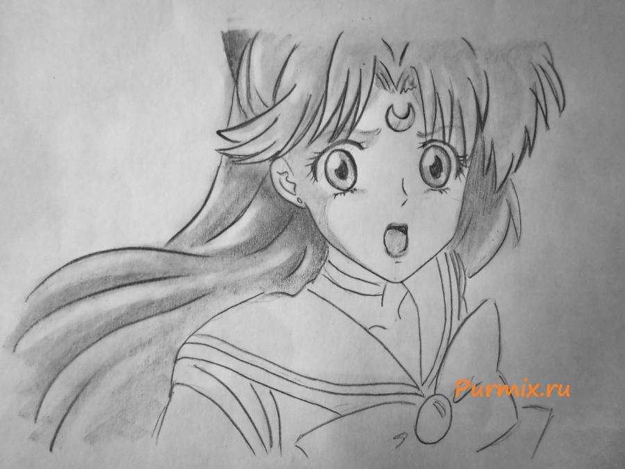 How to draw to Minene Ur from an anime the Diary of the future 7
