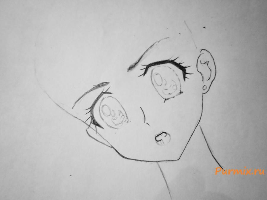 How to draw Tsubaki Kasugano from an anime the Diary of the future 3