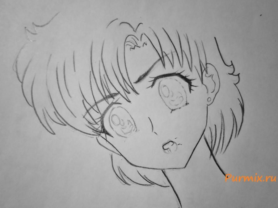 How to draw Tsubaki Kasugano from an anime the Diary of the future 4