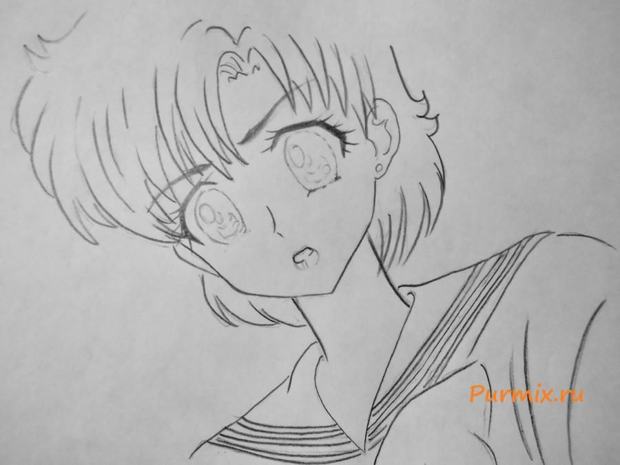 How to draw Tsubaki Kasugano from an anime the Diary of the future 5