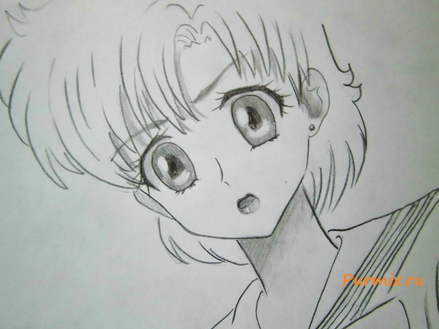 How to draw Tsubaki Kasugano from an anime the Diary of the future 6