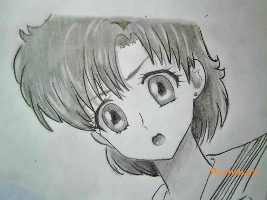 How to draw Tsubaki Kasugano from an anime the Diary of the future 7