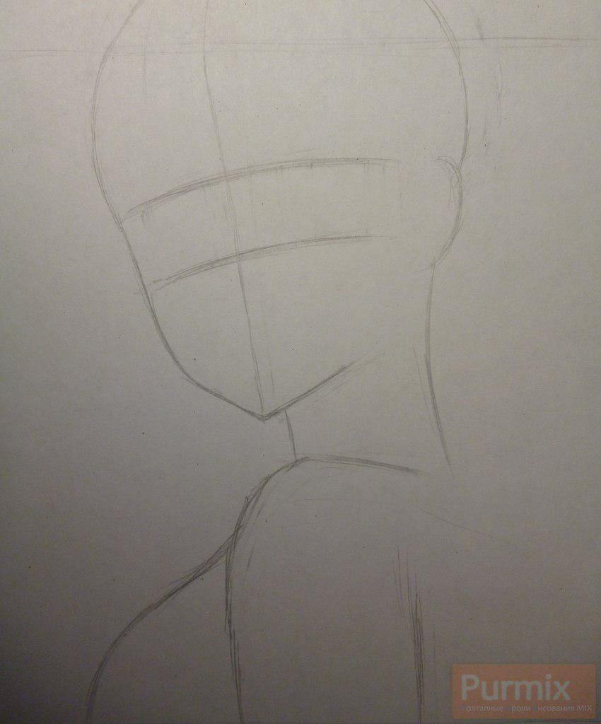 How to draw Gasay from an anime the Diary of the future Is young 2