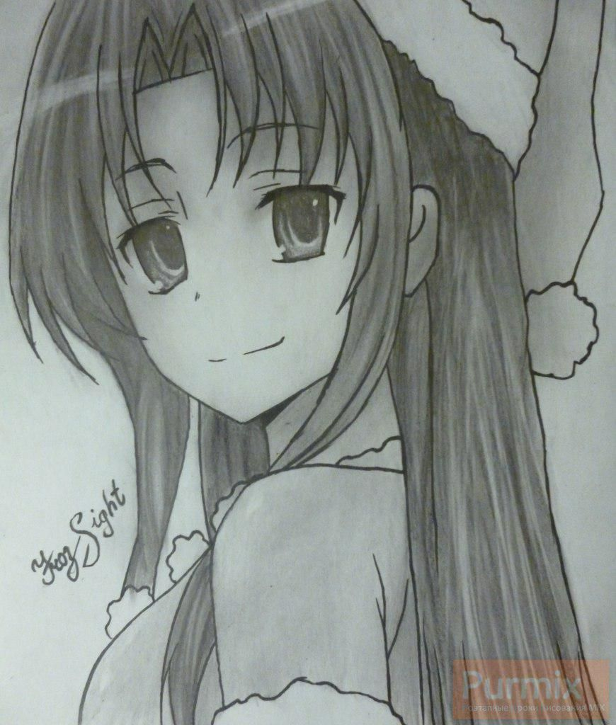 How to draw Amy Cavassima from Torador's anime with a pencil