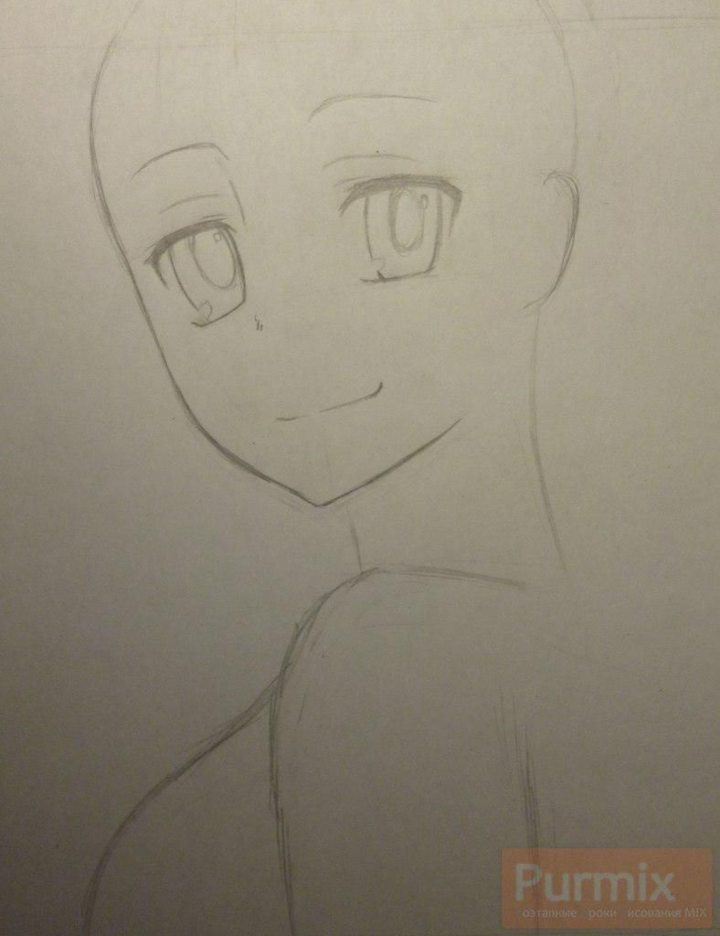 How to draw Gasay from an anime the Diary of the future Is young 3