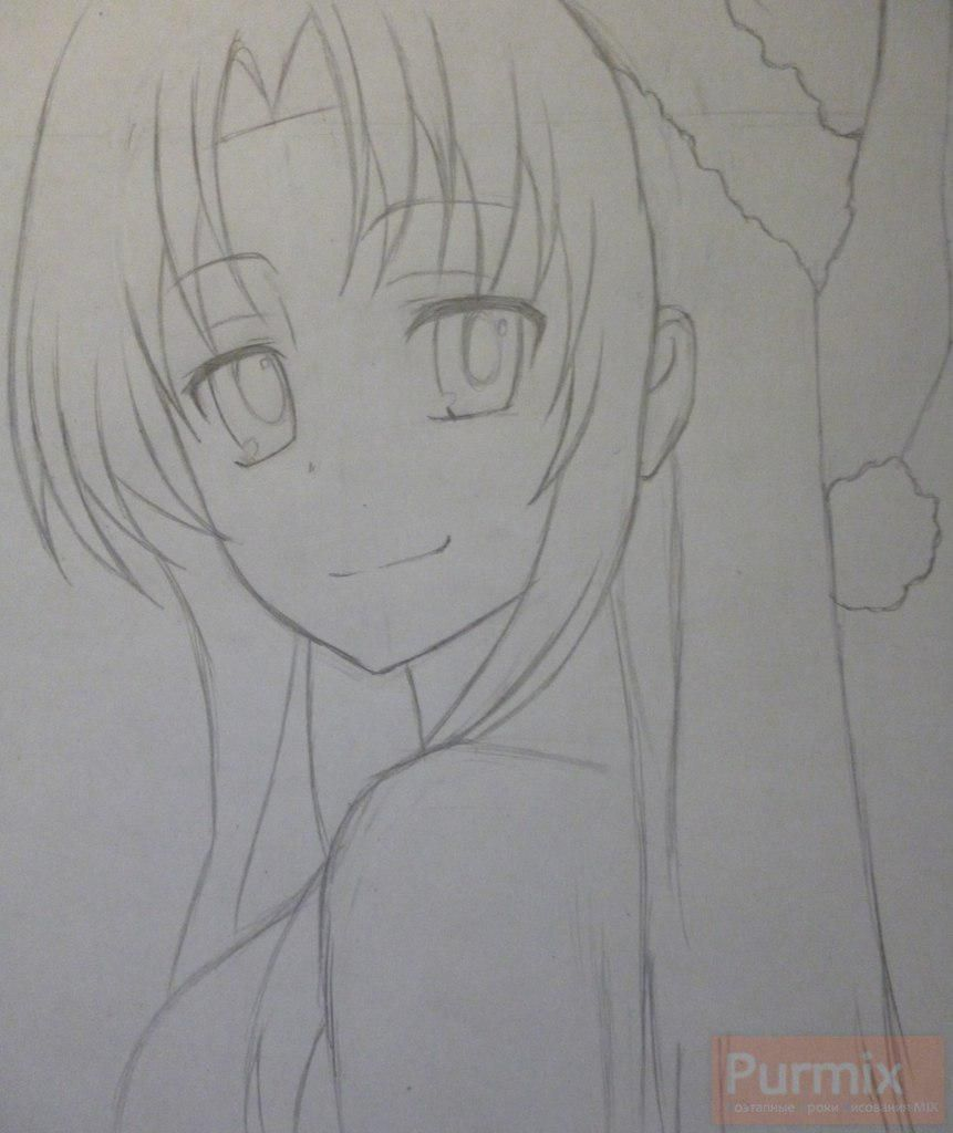 How to draw Gasay from an anime the Diary of the future Is young 4