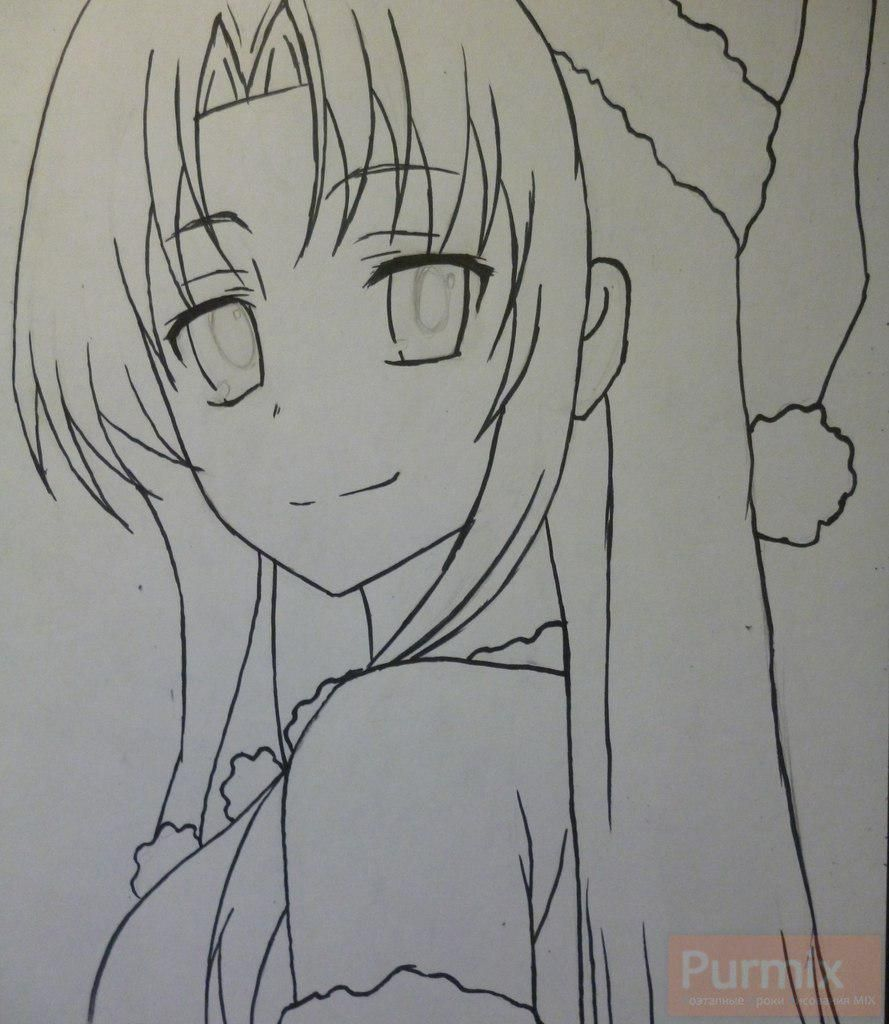 How to draw Gasay from an anime the Diary of the future Is young 5