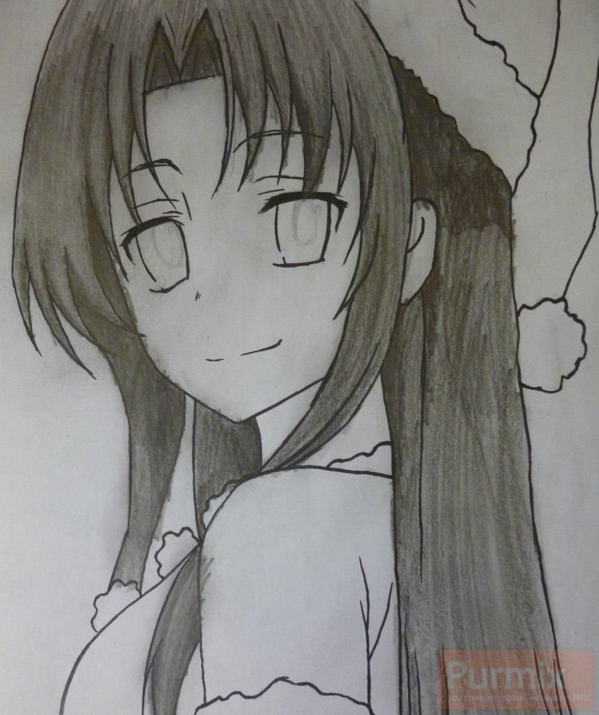How to draw Gasay from an anime the Diary of the future Is young 7
