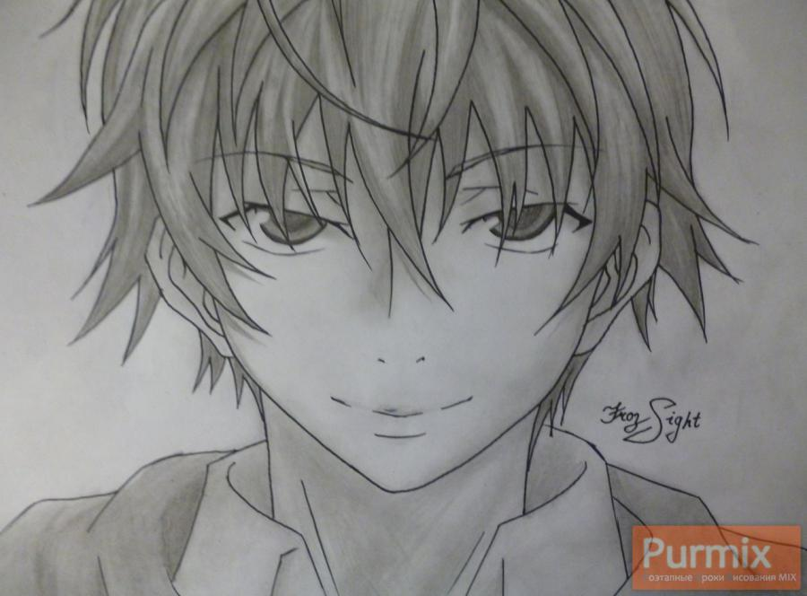 How to draw Ara Akise from an anime the Diary of the future with a pencil