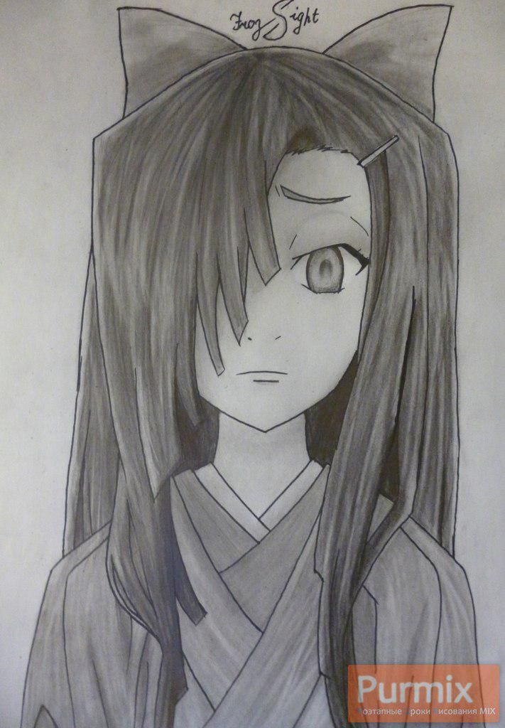 How to draw Tsubaki Kasugano from an anime the Diary of the future