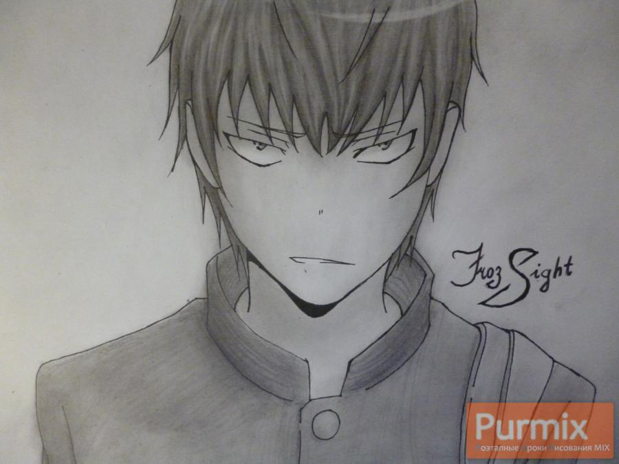 How to draw Ryudzi Takasa from Torador's anime with a simple pencil