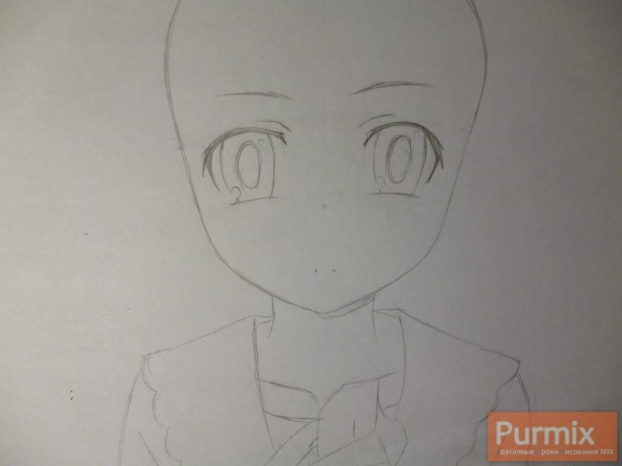How to draw Mari Kozakura from an anime the Illusive project step by step 3