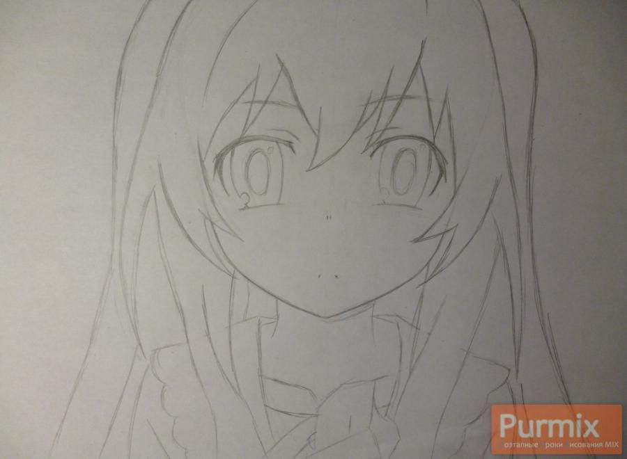 How to draw Mari Kozakura from an anime the Illusive project step by step 4