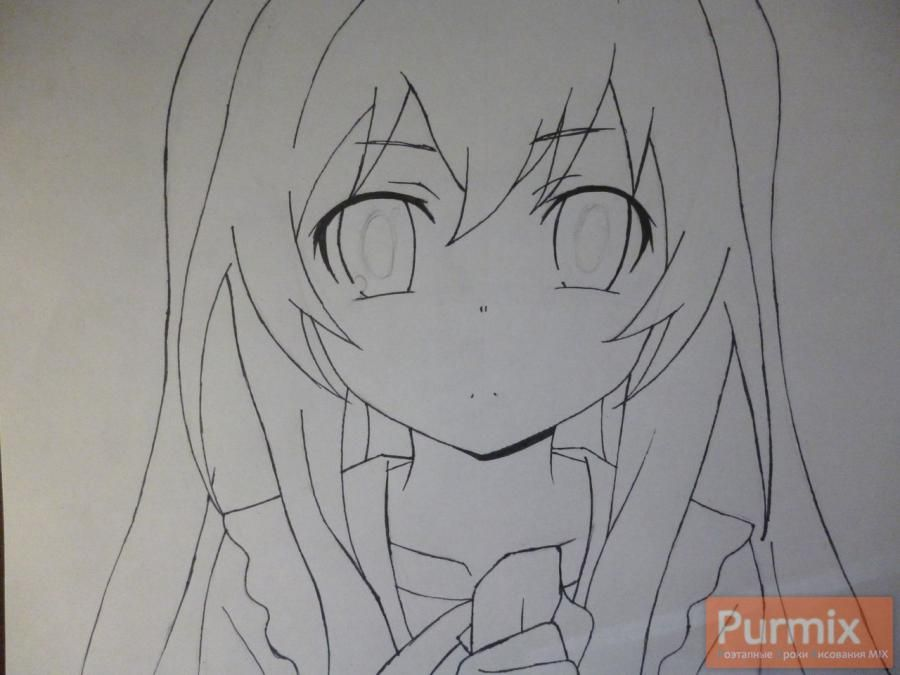 How to draw Mari Kozakura from an anime the Illusive project step by step 5