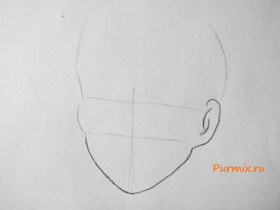 How to draw Kosk Seto from an anime the Illusive project step by step 2