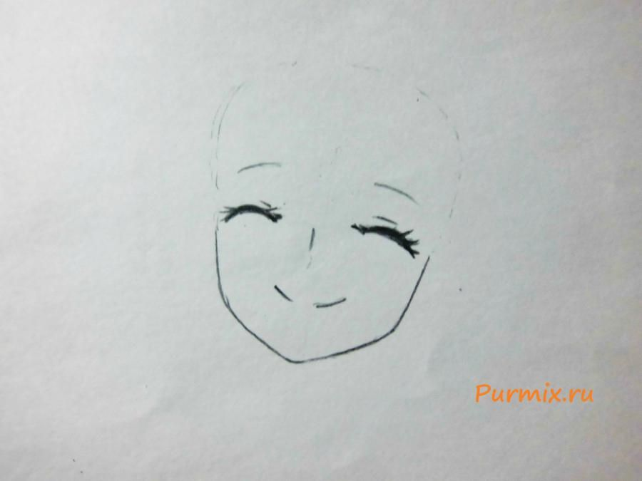 How to draw Shui Kano from an anime the Illusive project step by step 2