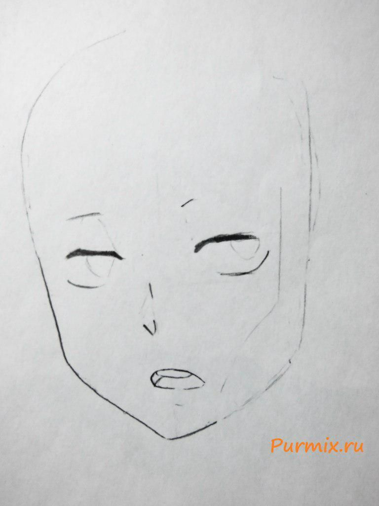 How to draw Satsuki Kiryuin from an anime Kill or die a pencil 3