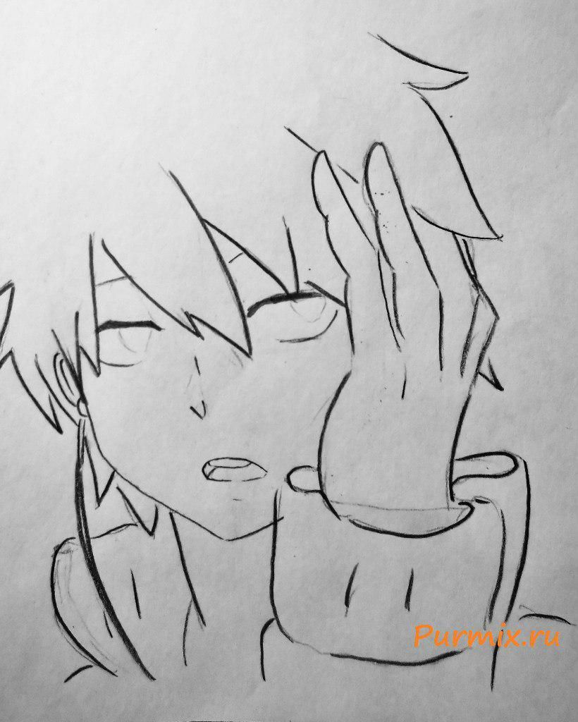 How to draw Satsuki Kiryuin from an anime Kill or die a pencil 5