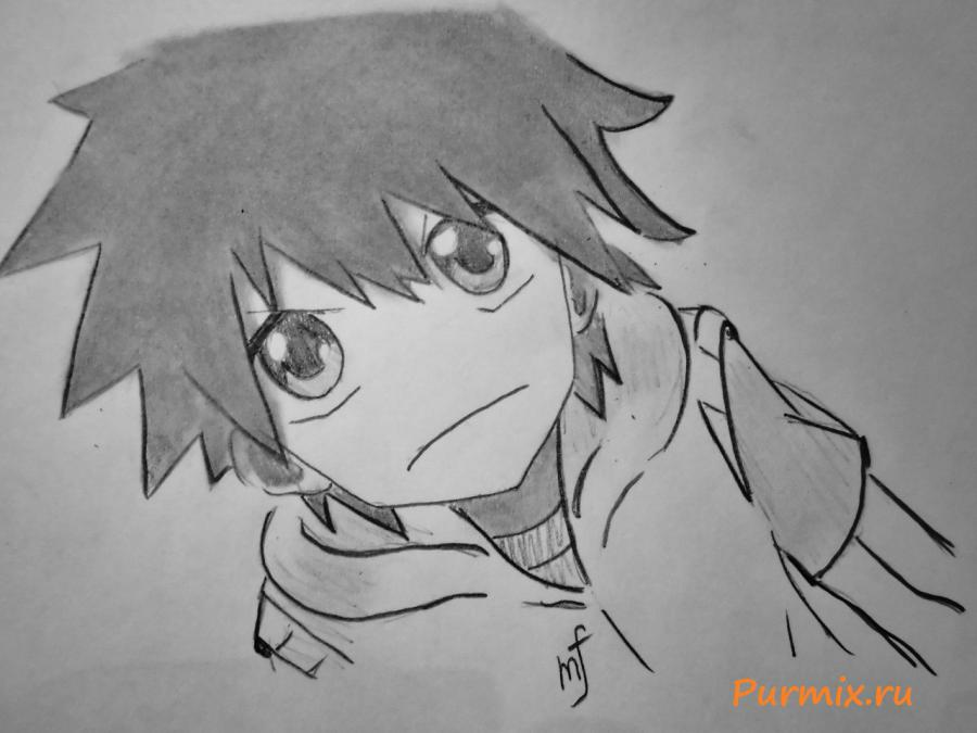 How to draw Hibiya Amamiya from an anime the Illusive project with a pencil