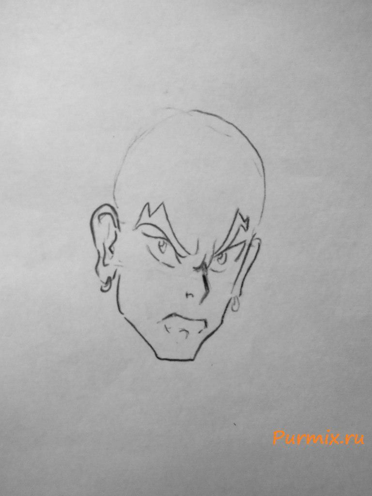 How to draw Xiu Oum from an anime Corona of the sinner with a pencil 3