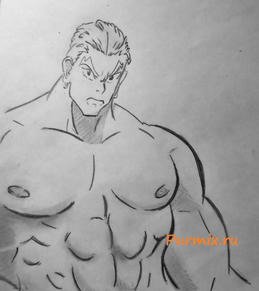 How to draw Ira Gamagori from an anime Kill or die