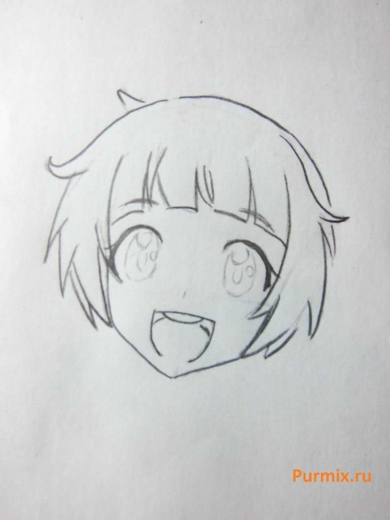 How to draw Midzuki from an anime It is very pleasant, God a pencil 4