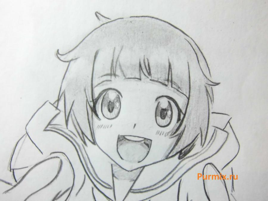 How to draw Midzuki from an anime It is very pleasant, God a pencil 6