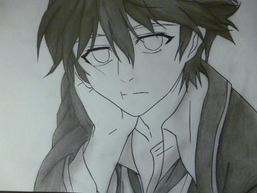 How to draw Mikage from an anime It is very pleasant, God a pencil 11